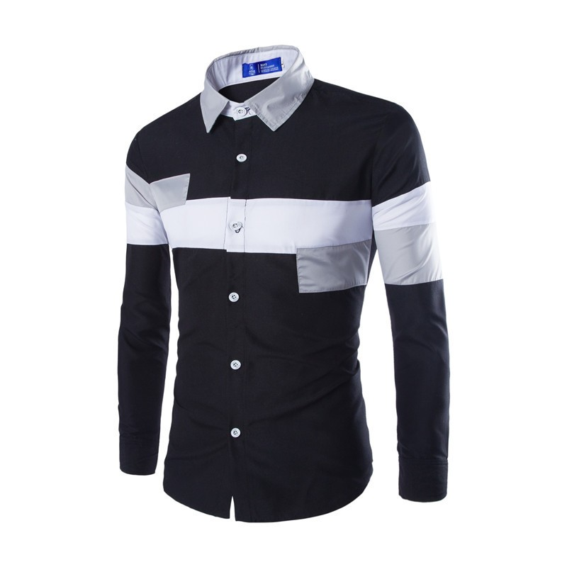 Mens Cross Line Slim Fit Dress Shirts Creative India Exports