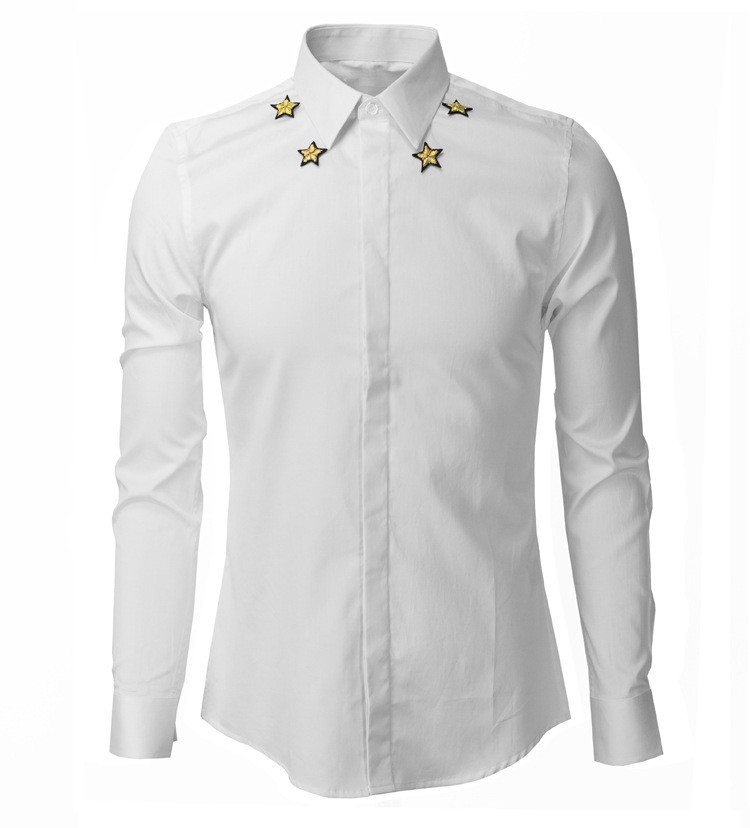 26b0c31d8 Mens Embroidery Slim Fit Long Sleeve Shirts Creative India Exports