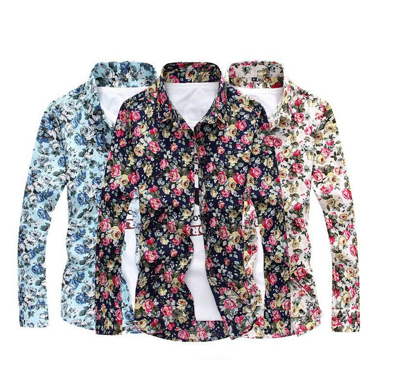 Mens Floral Flower Design Cotton Shirts Creative India Exports
