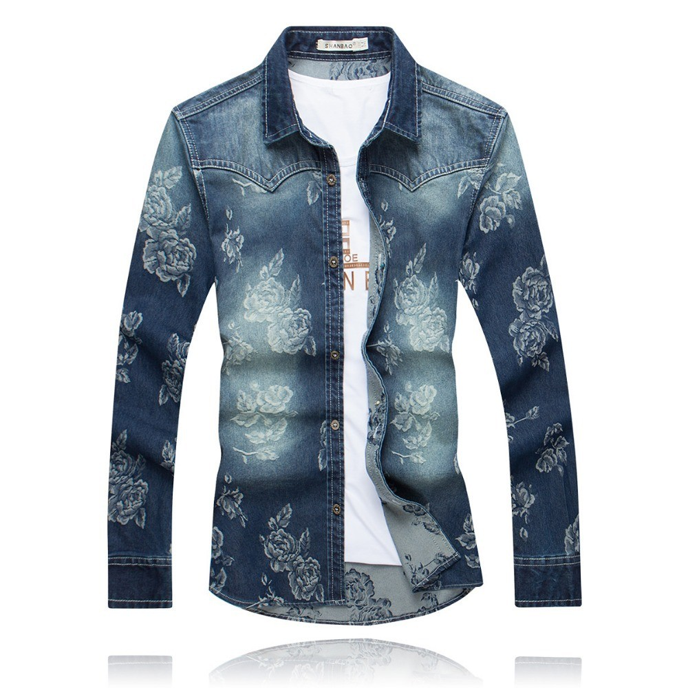 Mens flower print slim fit casual shirts creative india for Slim fit mens shirts casual