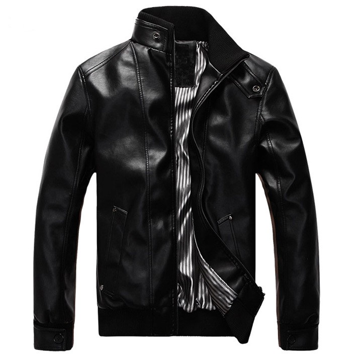 Mens New Fashion Casual Pu Leather Jackets Creative India Exports