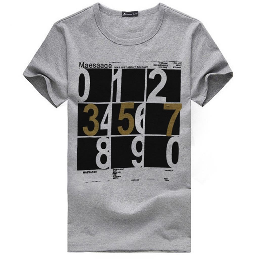 Mens Number Printed Cotton Tshirts Creative India Exports