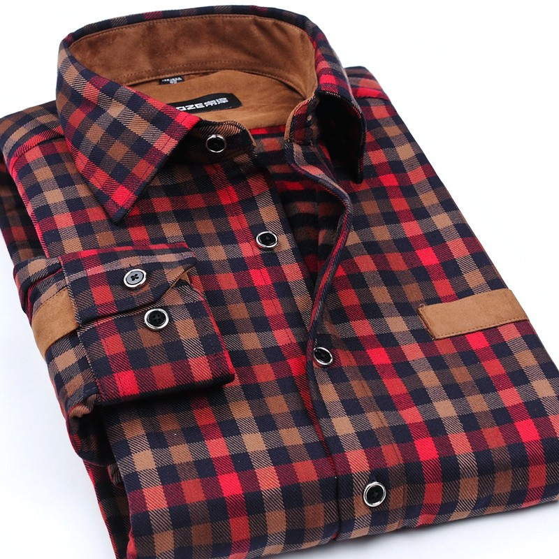 Mens Plaid Patchwork Casual Shirts Creative India Exports