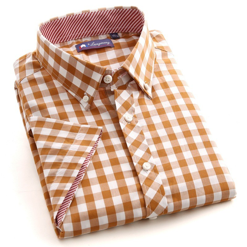 mens short sleeve plaid cotton shirts creative india exports. Black Bedroom Furniture Sets. Home Design Ideas