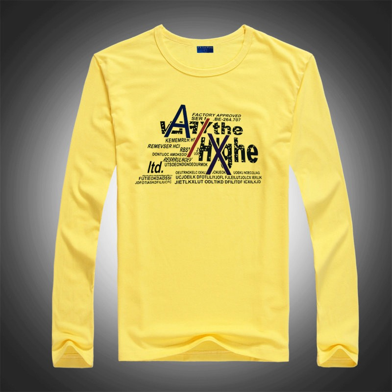 045a431d1caf Mens Yellow Long Sleeve Cotton Tshirt Creative India Exports