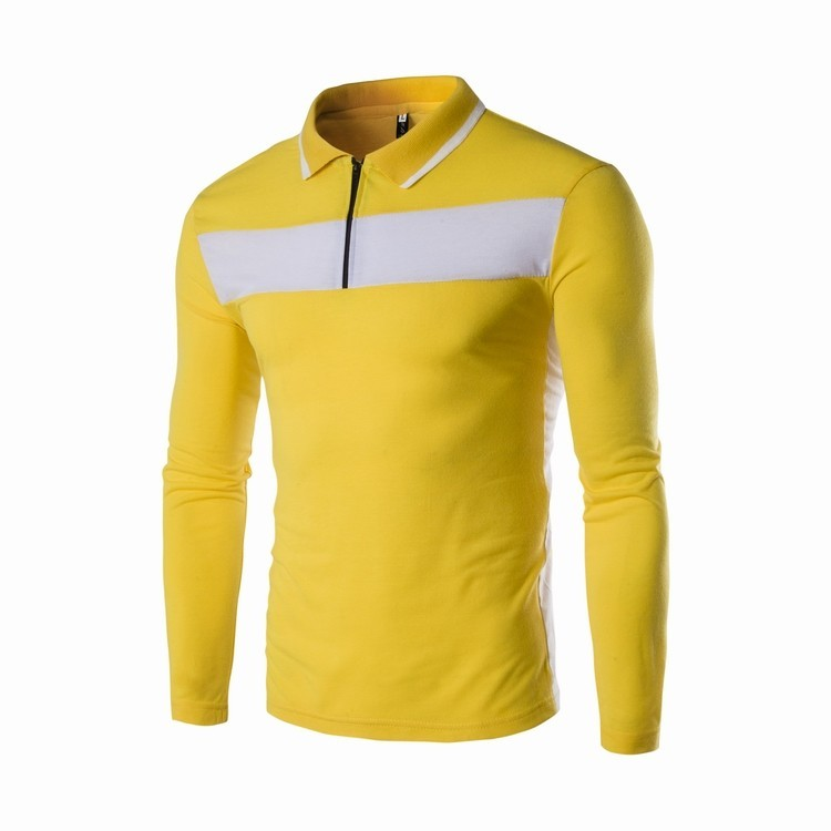 bb6f15aa7fb4 New Fashion Long Sleeve Mens Polo Tshirts Creative India Exports