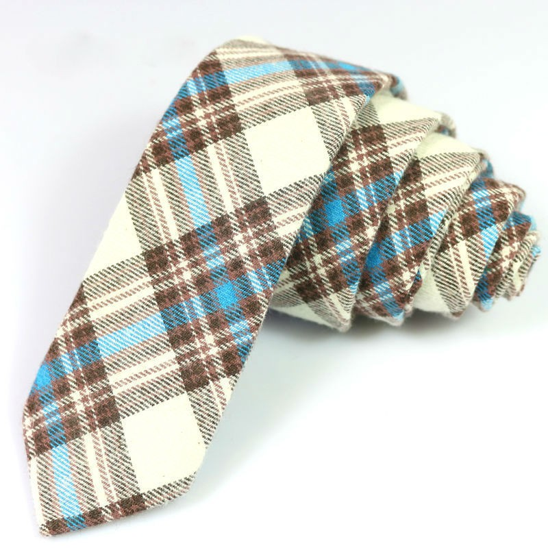 Newest 100% Cotton Men Skinny Neckties
