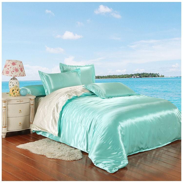 Smooth Satin Silk Comforter Sets