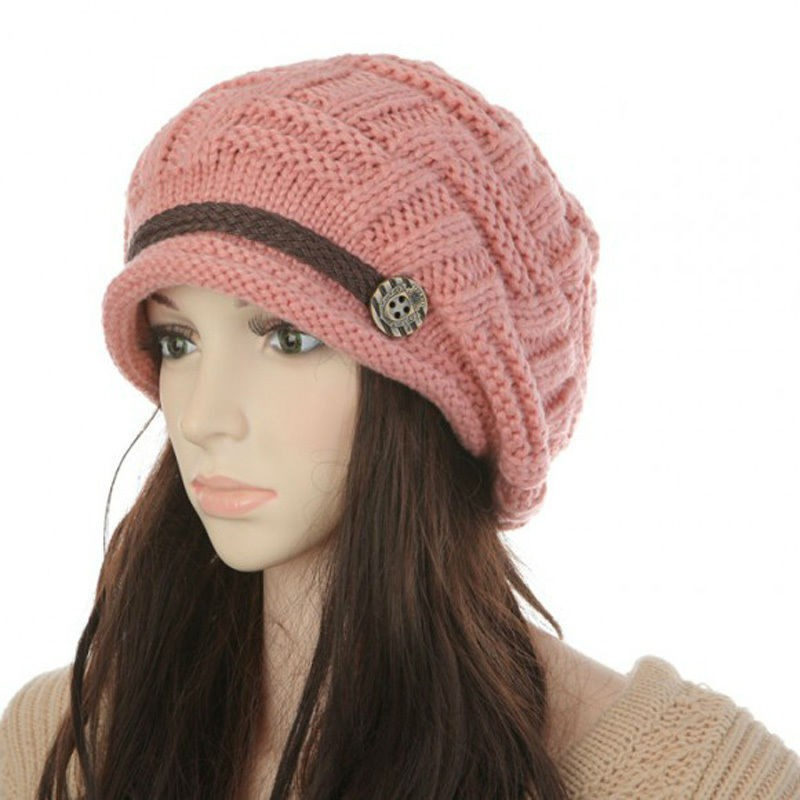 Womens Fashion Thermal Knitted Winter Hats Creative India