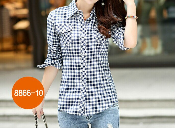 Womens Long Sleeve Cotton Shirts