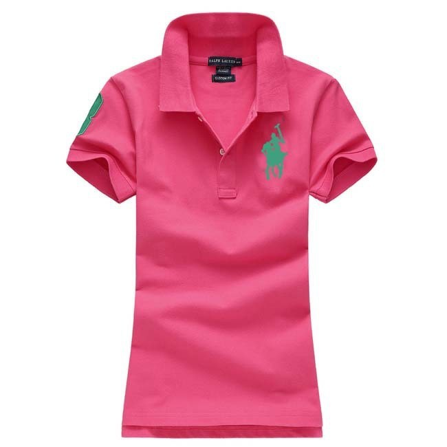 Womens Turn-down Collar Polo Tshirts