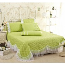 100% Cotton Embroidered Bed Cover - 1
