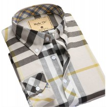 100% Cotton Mens Casual Plaid Shirts