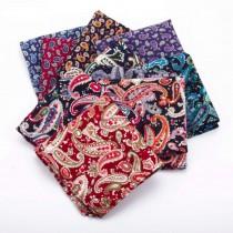 100% Cotton Paisley Pattern Pocket Squares
