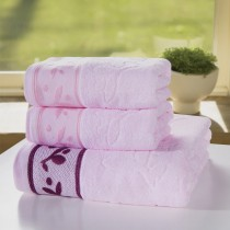100% Cotton Towels Set of 3 Pcs -