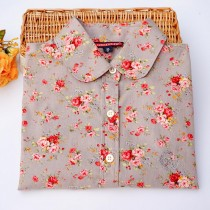100% Cotton Women Floral Print Casual Shirts