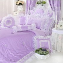 100% Polyester Lace Edge Comforter Sets