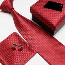 100% Silk Striped Pattern Mens NeckTie Sets