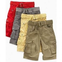 100 % Cotton Mens Cargo Shorts