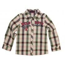 Boys Cotton Long Sleeve Plaid Collar Shirts
