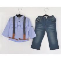 Boys Sling Strap Denim Suits Sets