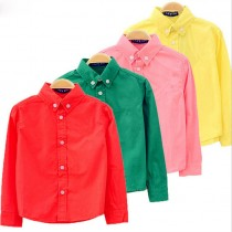 Boys Solid Cotton Casual Shirts