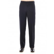 Pinstripe Straight Fit Wool Pants