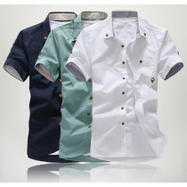 Cotton Solid Mens Casual Shirts