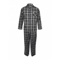 Mens Black Check Pajama Set