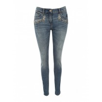 Womens Embroidered Patch Jeans