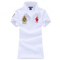 Fashionable Slim Embroidery Women Polos