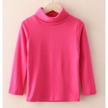 Girls Cotton Long Sleeve O-Neck T-Shirts