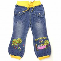 Girls Geometric Denim Jeans