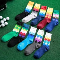 Gradient Color Stockings Casual Men Socks