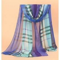 High Quality Silk Plaid Women Fashion Scarves