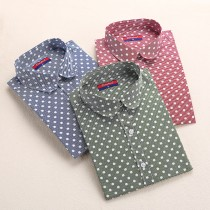 High Quality Womens Polka Dots Print Shirts