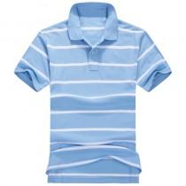 Latest Mens Short Sleeve Striped Polos