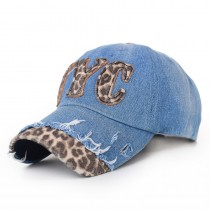 Leopard Letter Printed Women Casual Caps