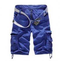 Mens Casual Cotton Cargo Shorts