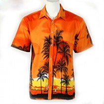 Mens Casual Printed Short Sleeve Shirts