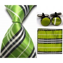 Mens Check Pattern Silk Business Tie Sets
