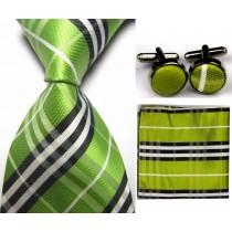 Mens Check Pattern Silk Business Tie Sets
