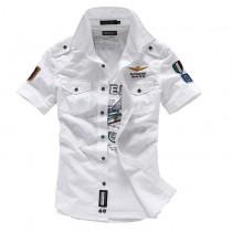 Mens Cotton Short Sleeve Casual Shirts