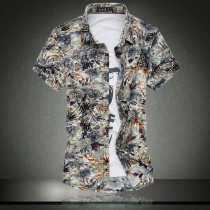 Mens Cotton Short Sleeved Floral Shirts