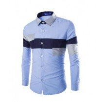 Mens Cross Line Slim Fit Dress Shirts