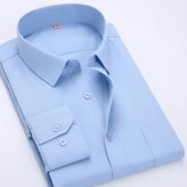 Mens Fashion Long-Sleeved Cotton Casual Shirts