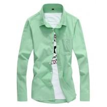 Mens Fashion Long Sleeve Casual Shirts