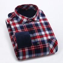 Mens Fleece Casual Long Sleeve Shirts
