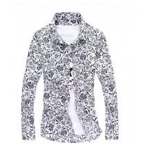 Mens Floral Flower Design Cotton Shirts