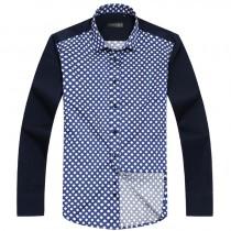 Mens Floral Print Square Collar Shirts